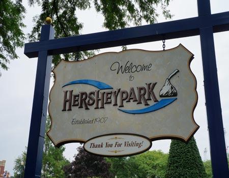 Hershey Park Sign